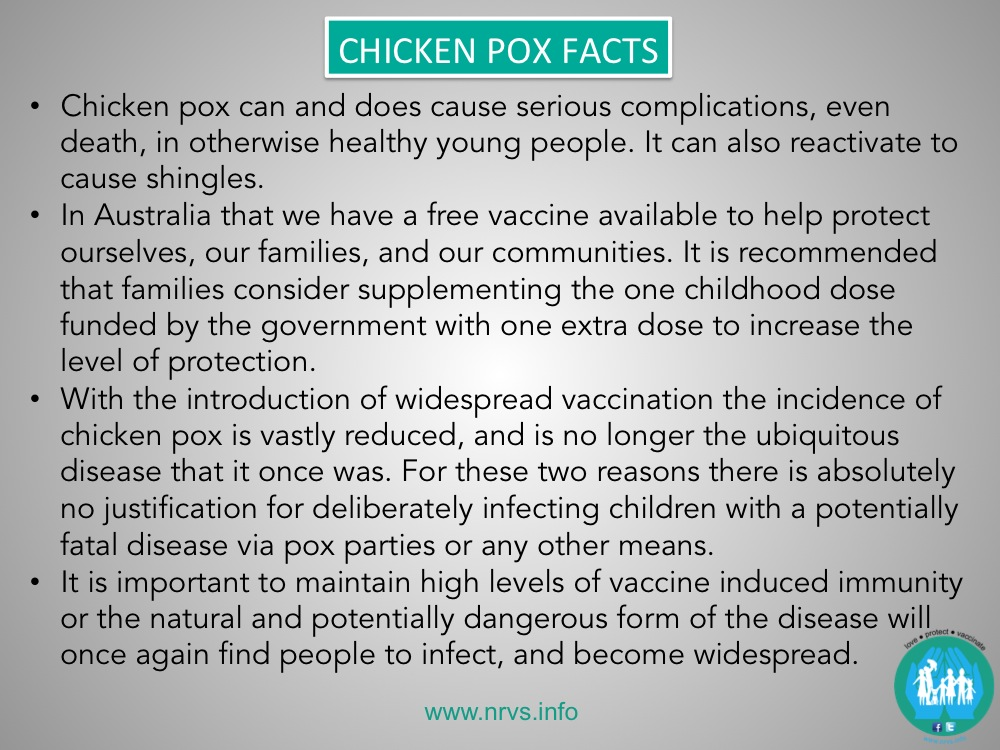 infectious disease chicken pox This 5th edition replaces staying healthy in child care - preventing infectious diseases in  with simple and effective methods for minimising the spread of disease.