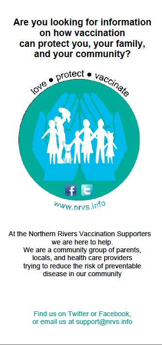 flyers nrvs northern rivers vaccination supporters